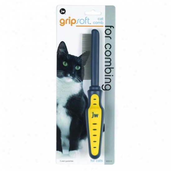 Jw 65018 Grip Soft Cat Comb