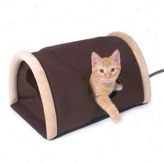 K&h Manufacturing Outdoor Heated Kitty Camper With Heated Pad