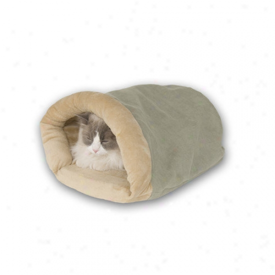 K&h Manufacturring Heated Cat Crinkle Sack In Sage