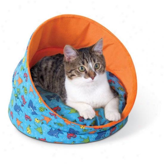 K&h Manufacturint Kitty Cave In Orange