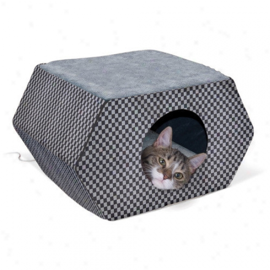 K&h Manufacturing Kitty Hideout In Gray And Black