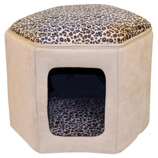 K&h Manufacturing Kitty Sleep House In Tan And Leopard