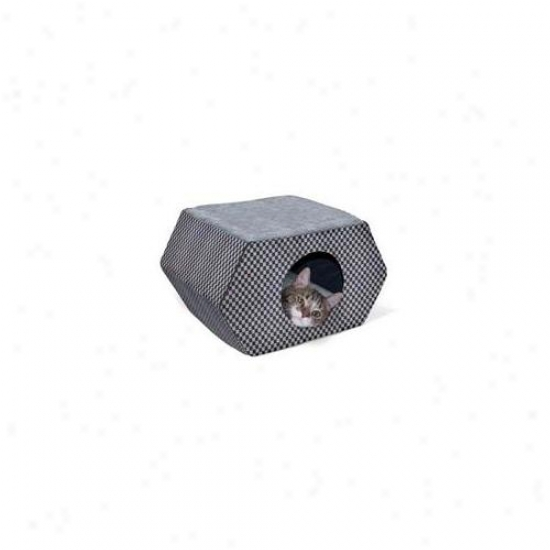 K&h Pet Products Kh3894 Kitty Hideout Gray - Dark -unheayed 20. 5 Inch X 15. 5 Inch X 12. 5 Inch