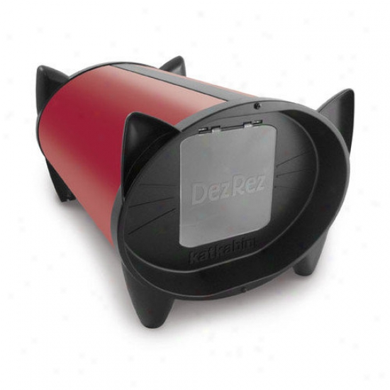 Katkabin By Brinsea Outdoor Cat House In Starlet Red