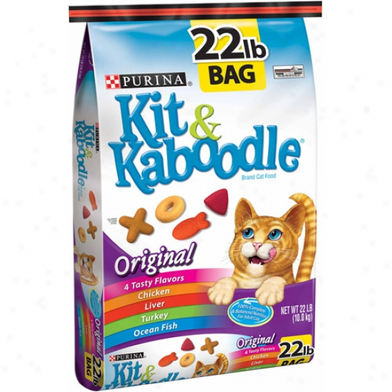 Kit And Kaboodle Original Cat Food, 22 Lbs