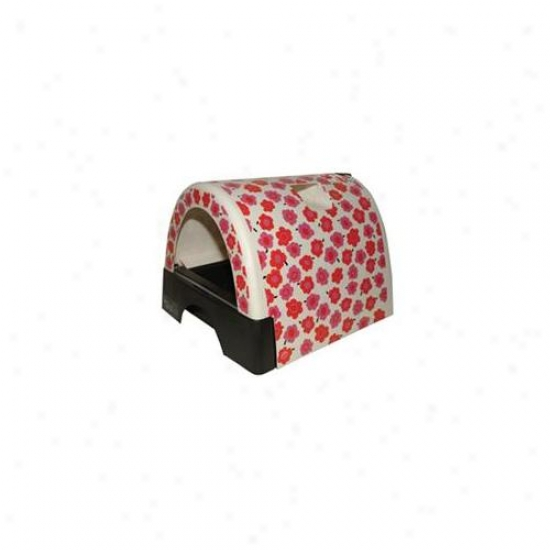 Kitty A Go Go  Litter Box -flower-10107