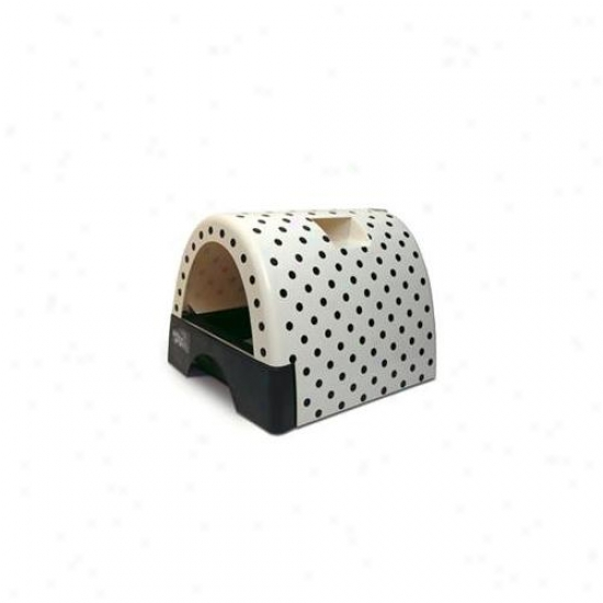 Kitty A Go Go  Litter Box -polka dot-10103