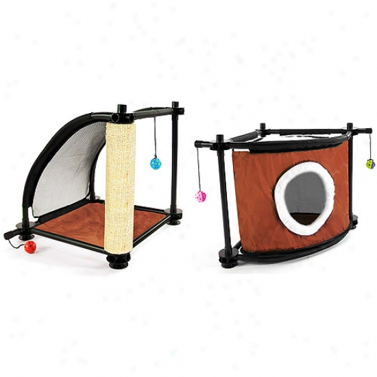 Kitty City Climbing Towe Cat Furniture With Sleepy Corjer Value Bundle