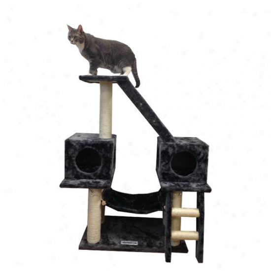 Kitty Mansionz 43'' Alaska Cat Tree In Grey