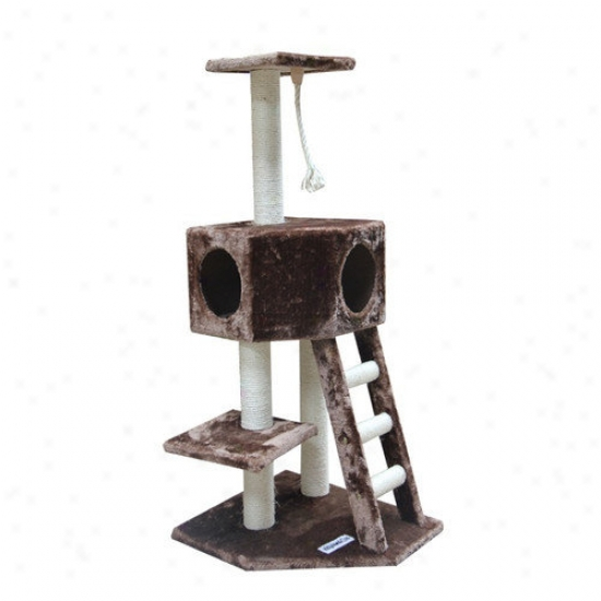 Kitty Mansions 49'' Vegas Cat Tree In Mocha