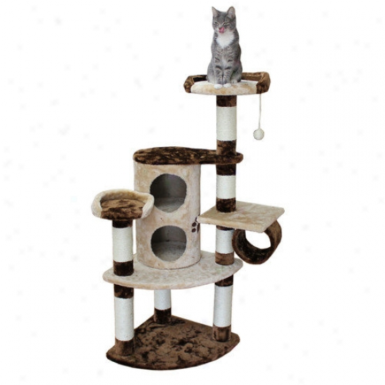 Kitty Mansions 50'' Nashville Cat Tree In Brown And Beige