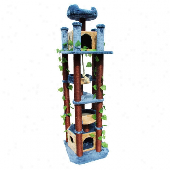 Kitty Mansions 75'' Honolulu Cat Tree