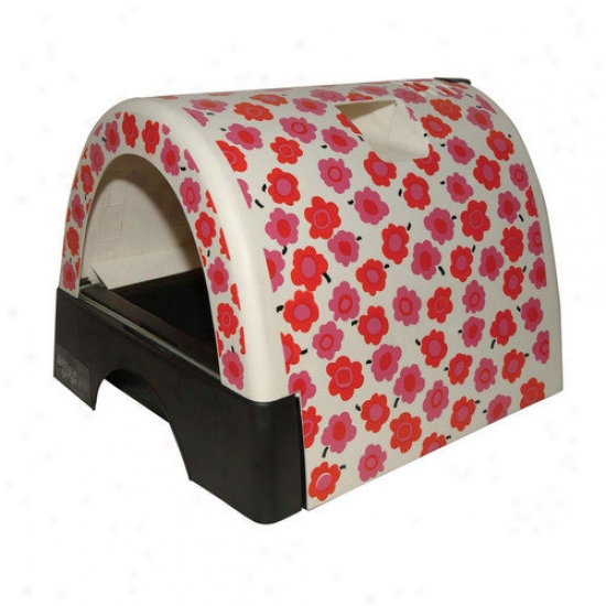 Kittyagogo Designer Cat Litter Spar With Flower Cover