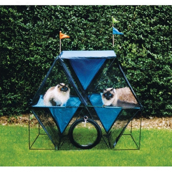 Kittywalk Sys5ems The Ferris Wheel  Outdoor Pet Enclosure