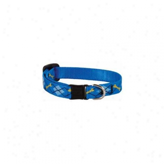 Lupine Inc . 50inch X 8inch-12inch Adjustable Dapper Dog Design Safety Cat Collar  41837