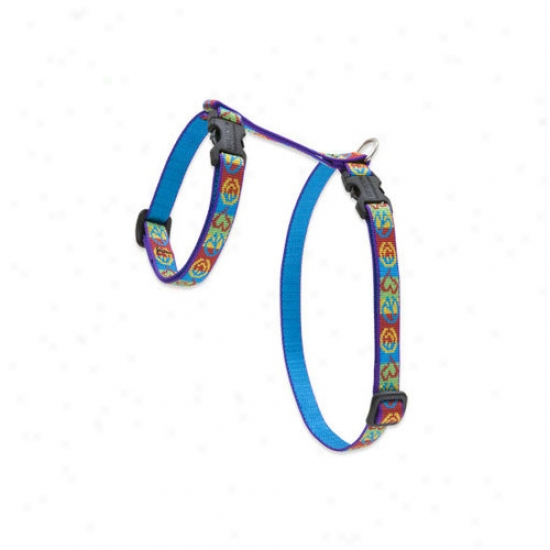 Lupine Pet Peace Pup 1/2'' Adjustable H-style Cat Harness