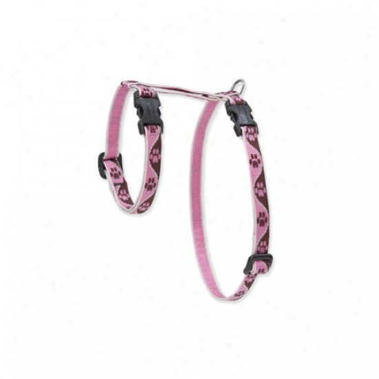 Lupine Pet Tickled Pink 1/2]' Adjustable H-style Cat Harness