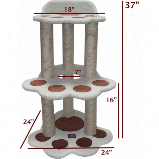 Majestic Pet Products 37-1/2&qot; Bungalow Sherpa Cat Tree
