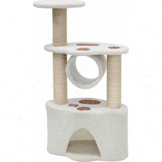 "Majestic Pet Products 37"" Bungalow Sherpa Cat Tree"