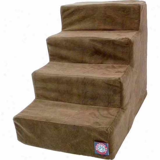 Majestic Pe5 Products 4 Step Suede Pet Stairs