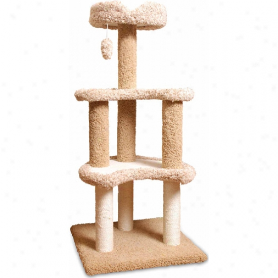 "Majestic Pet Products 50"" Carpeted Sherpa Moon Cat Tree"