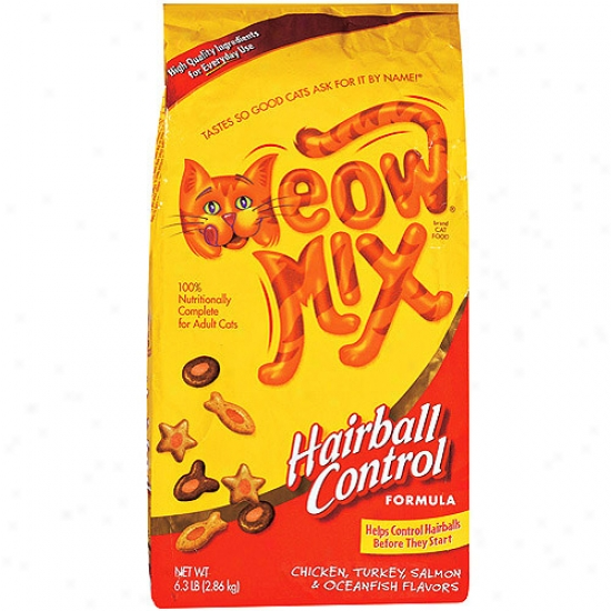 Meow Mix: Hairball Control Formula Dry Cat Food, 6.30 Lb
