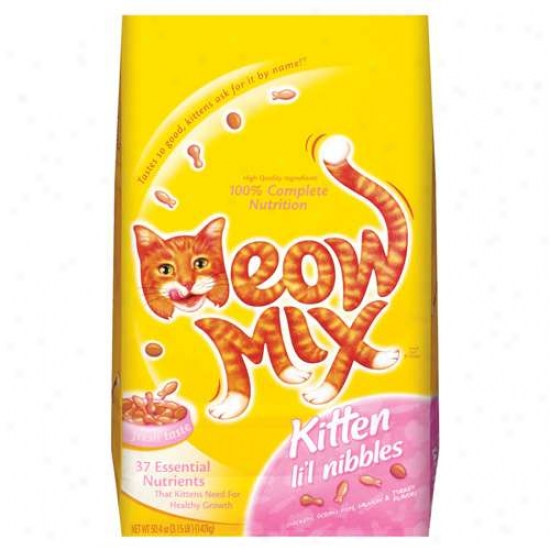 Meow Mix: Kitten Li'l Nibbles Dry Cat Food, 3.15 Lb