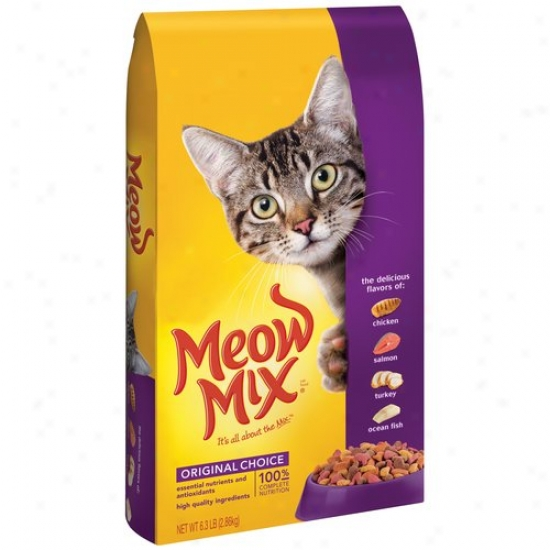 Meow Mix Original Choice Cat Food, 6.3 Lb
