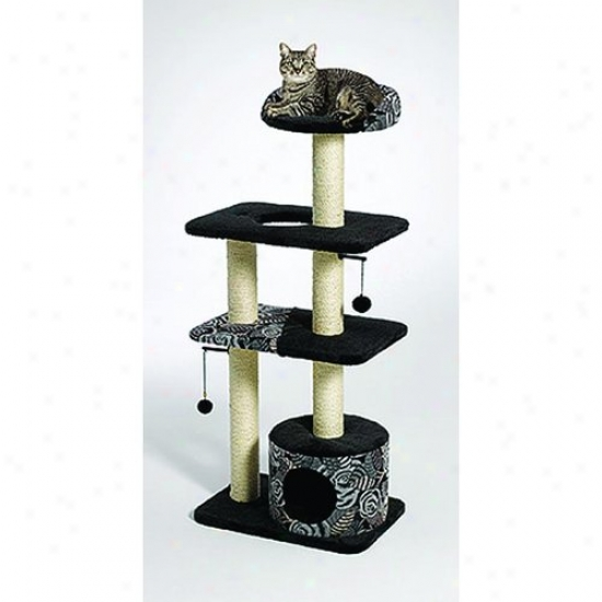 Midwest 138t-bk Feline Nuvo Tower Cat Furniture