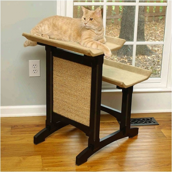 Mr. Herzher's Craftsman Series Deluxe Fold Seat Woodsn Cat Perch