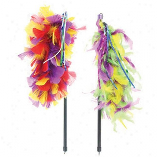 Multipet Imternational Inc Tickle Your Imaginative Feather Boa Cat Toy