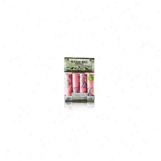 Nandog Wbr-2001-pk 16 Pack Waste Bag Re-establishment Pink-pink Cosmic Bones