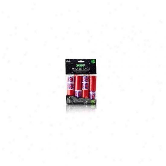 Nandog Wbr-5000-uk 16 Pack Waste Bag Replacement Red-blue Union Jack