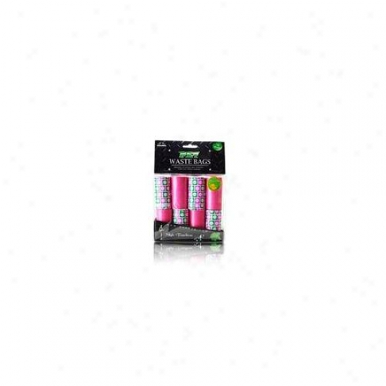 Nandog Wbr-5001-pk 16 Pack Waste Bag Replacement Pink-green oBx With Cirles