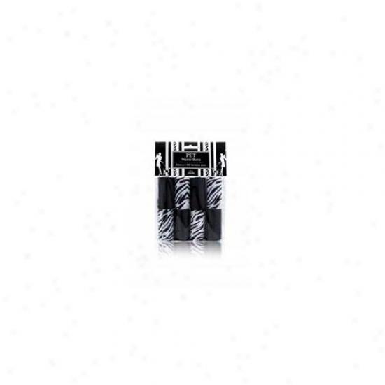 Nandog Wbr-7108-bk 8 Pack Watse Sack Replacement Black-black Zebra