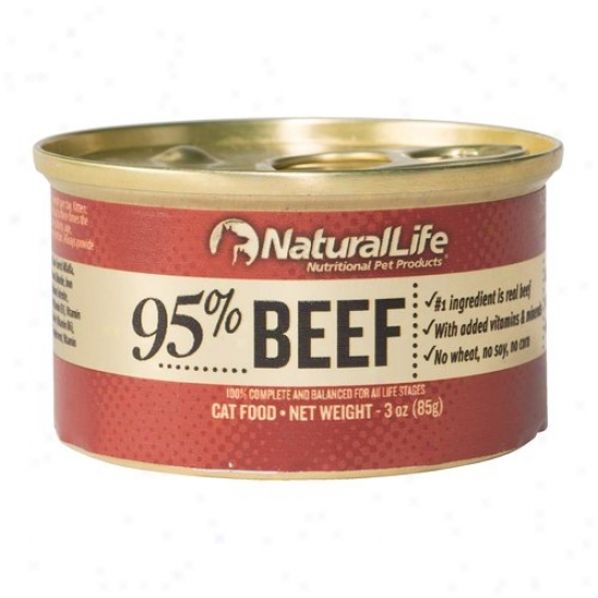 Natural Life 95% Beef Canned Cat Food, 3 Oz