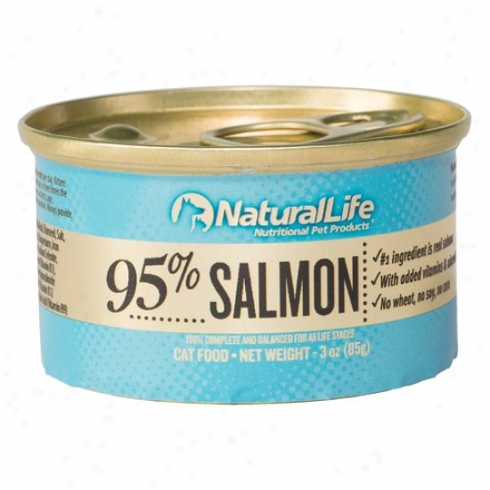 Natural Life 95% Salmon Canned Cat Food, 3 Oz