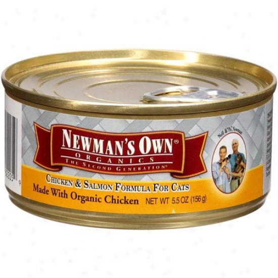 Newmans Admit Organids 61345 Organic Chicken & Salmon Cat Food Can