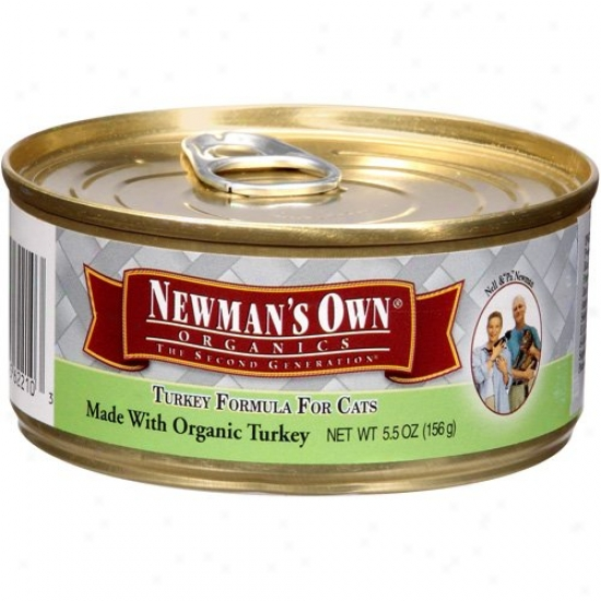 Newmans Own Organics 61346 Organic Turkey Cat Food Can