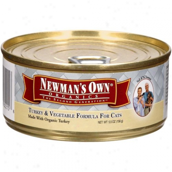 Newmans Own Organics 61347 Orgsnic Turjey & Vegetable Cat Food