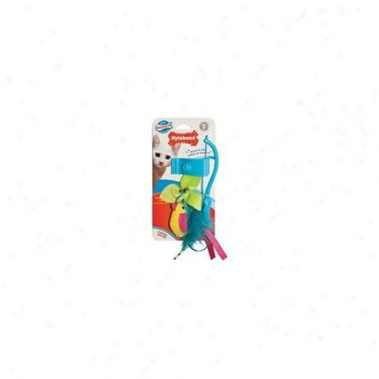 Nylabone Interactive Wand And Clip Cat Toy