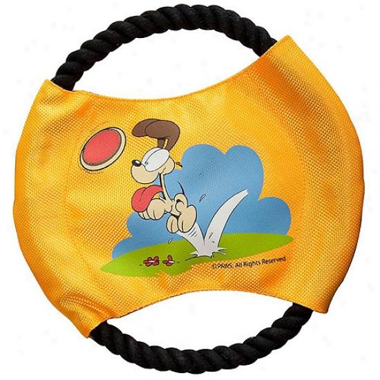 Odie Play Frisbee