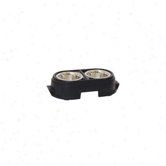 Our Pets Sfl08blk Wholesome Pet Diner 8 Inch