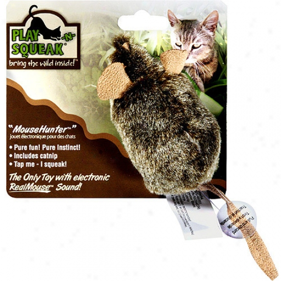 Ourpets Ct-10158 Play-n-squeak Mouse Hunter Cat Toy