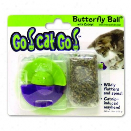 Ourpets Cy-10171 Go Cat Go Butterfly Ball