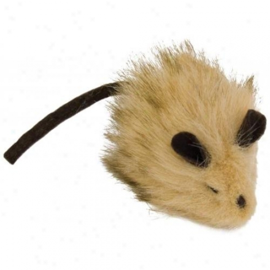 Ourpets Ct-10350 Play-n-squeak Wooly Mouse Cat Toy