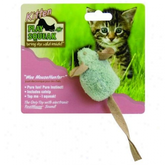 Ourpets Kt-10356 Play-n-squeak Wee Cat Toy
