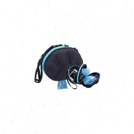 Pawpac Designs Pp2-00001 Dog Walker Waste Circumstance Black Attending Sky Blue Zipper