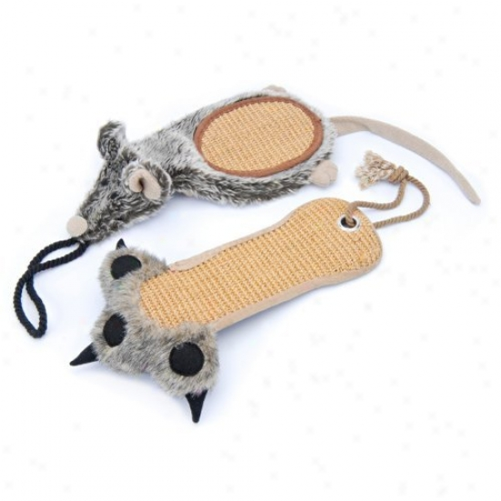 Penn Plax Scratcherz Plush And Sisal Scratching Toys
