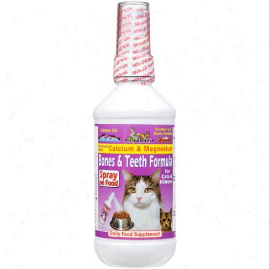 Pet Authority Bones & Teeth Formula For Cats & Kittens Daiyl Food Suppement, 8 Oz